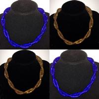 Mesh Stardust Halskette, Zinklegierung, mit Kunststoff Netz & Harz Strass, Platinfarbe platiniert, für Frau, keine, frei von Nickel, Blei & Kadmium, verkauft per ca. 20 ZollInch Strang
