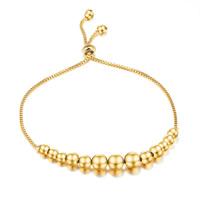 Edelstahl Schmuck Armband, vergoldet, einstellbar & Kastenkette & für Frau, 56mm, verkauft per ca. 9.8 ZollInch Strang
