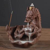 Porcelain Backflow Incense Burner, Lila Sand, 140x125mm, verkauft von PC