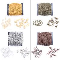 Eisen gemischt, mit Karton, plattiert, keine, frei von Blei & Kadmium, 3x4mm, ca. 12m/Tasche, verkauft von Tasche