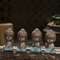 Tee Haustierdekoration, Porzellan, Buddha, verschiedene Stile für Wahl, 90x40x35mm, verkauft von PC