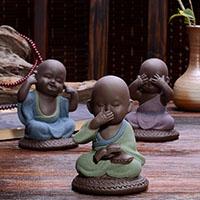 Tee Haustierdekoration, Porzellan, Buddhistischer Mönch, verschiedene Stile für Wahl, verkauft von PC