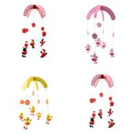 Hängende Ornamente, Holz, mit Nylonschnur, für Kinder & verschiedene Stile für Wahl, 190x230mm, verkauft von PC