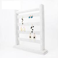 Baumwollsamt Ohrringständer, mit Holz, grau, 290x320x70mm, verkauft von PC