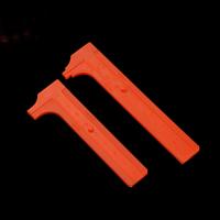 Nonius-Messschieber, Kunststoff, verschiedene Stile für Wahl, orange, 10PCs/Menge, verkauft von Menge