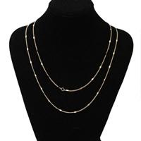 Zinklegierung Pullover Halskette, mit Verlängerungskettchen von 1.5Inch, plattiert, Twist oval & verschiedene Stile für Wahl & für Frau & 2 strängig, frei von Nickel, Blei & Kadmium, verkauft per ca. 23.6 ZollInch Strang