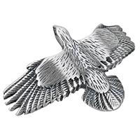 Edelstahl Armband Zubehör, Adler, Schwärzen, 64x42x8mm, Bohrung:ca. 11x3mm, 10PCs/Menge, verkauft von Menge