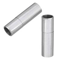 Edelstahl Bajonettverschluss, originale Farbe, 17x5mm, Bohrung:ca. 4mm, 10PCs/Menge, verkauft von Menge