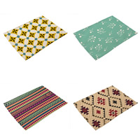 Platzieren Sie Matten, Baumwollgewebe, Rechteck, verschiedene Muster für Wahl, 42x32cm, verkauft von PC