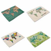 Platzieren Sie Matten, Baumwollgewebe, Rechteck, verschiedene Muster für Wahl & mit Brief Muster, 42x32cm, verkauft von PC