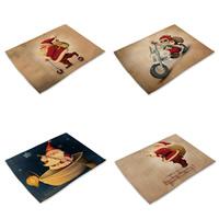 Baumwollgewebe Rechteck, Weihnachtsschmuck & verschiedene Muster für Wahl, 42x32cm, verkauft von PC