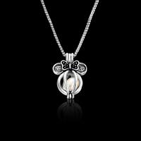 Plastik-Perlenkette, Zinklegierung, mit ABS-Kunststoff-Perlen & Eisenkette, mit Verlängerungskettchen von 5cm, Platinfarbe platiniert, Kastenkette & für Frau, frei von Blei & Kadmium, 26x19mm, verkauft per ca. 16.5 ZollInch Strang
