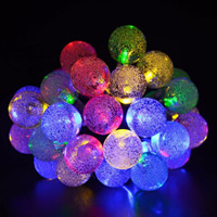 ABS Kunststoff Lampe mit Steckdose, Solar angetrieben & LED & wasserdicht, keine, 24mm, verkauft per 6 m Strang