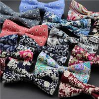 Unisex-Fliege, Baumwolle, Schleife, verschiedene Muster für Wahl, 120x60mm, verkauft von PC