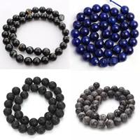 Mischedelstein Perlen, Edelstein, rund, verschiedenen Materialien für die Wahl, Grad AAA, 10mm, Bohrung:ca. 1mm, ca. 38PCs/Strang, verkauft per ca. 14.5 ZollInch Strang