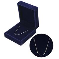 925 Sterling Silber Halskette Kette, Mit Verpackungskasten & unterschiedliche Länge der Wahl, 1mm, verkauft von Strang