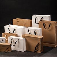 Mode Geschenkbeutel, Papier, mit Baumwollgewebe & Satinband & Nylonschnur, Rechteck, verschiedene Größen vorhanden, keine, 30PCs/Menge, verkauft von Menge
