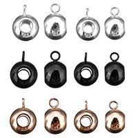 Edelstahl Kaution Perlen, plattiert, keine, 5x9x6mm, Bohrung:ca. 2mm, 200PCs/Menge, verkauft von Menge