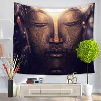 Mode Bad Strandtuch, Polyester, Rechteck, buddhistischer Schmuck & verschiedene Muster für Wahl, 150x130cm, verkauft von PC