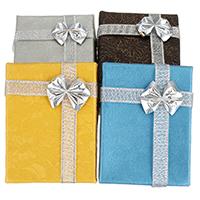 Papier Halskettenkasten, mit Metallische Schnur, Rechteck, mit Blumenmuster, keine, 62x84x29mm, 18PCs/Tasche, verkauft von Tasche
