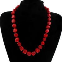 Koralle Halskette, Natürliche Koralle, für Frau, 10x11mm-16x17mm, verkauft per ca. 20 ZollInch Strang