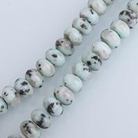 Lotus Jaspis Perlen, Lotos Jaspis, Rondell, natürlich, verschiedene Größen vorhanden, Bohrung:ca. 0.5-2mm, verkauft per ca. 15 ZollInch Strang