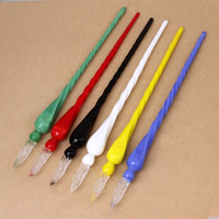 Lampwork Glas Dip Pen, handgemacht, keine, 16x190mm, verkauft von PC