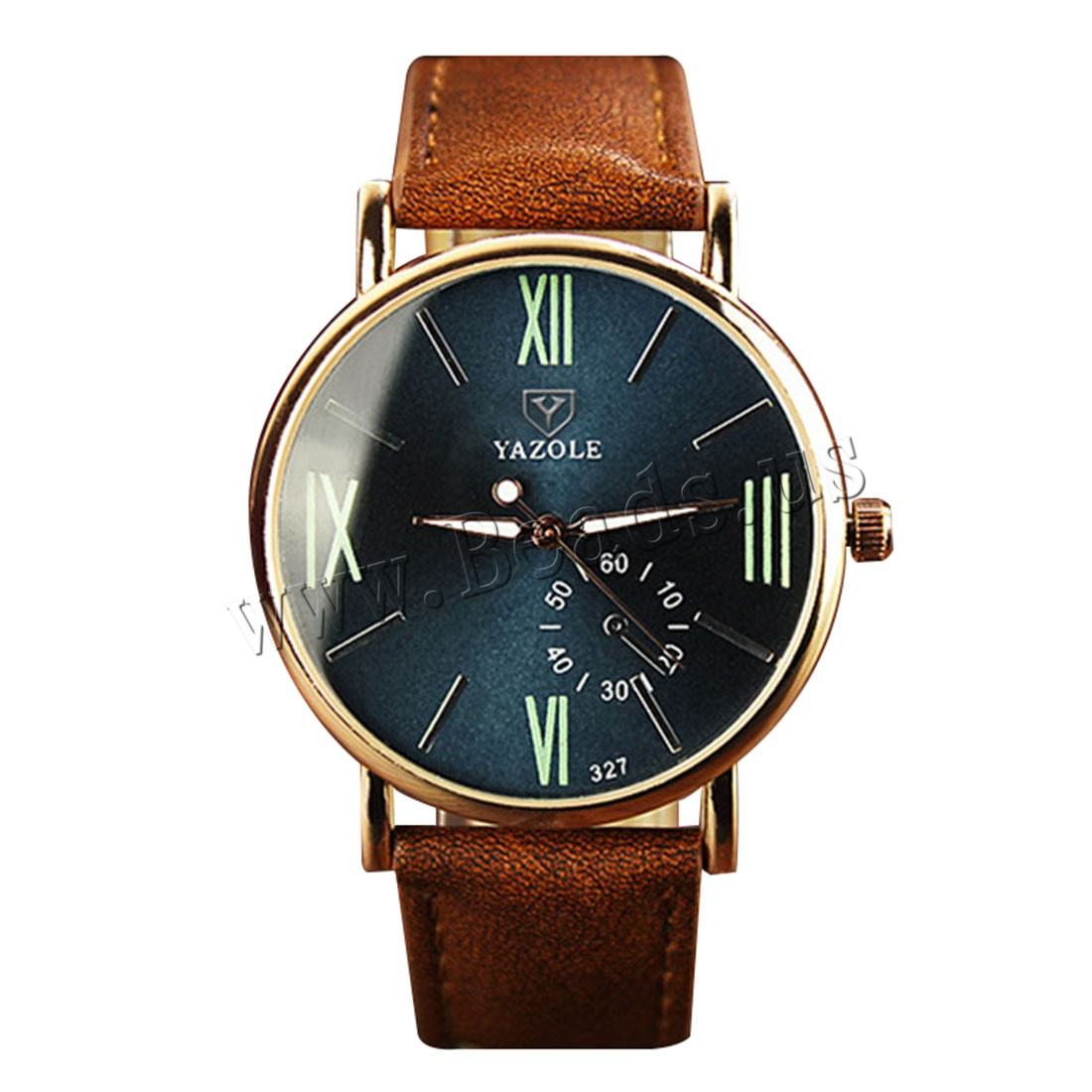 Buy Yazole® Unisex Jewelry Watch Cowhide Glass & Zinc Alloy plated adjustable & luminated & enamel nickel lead & cadmium free Approx 9 Inch Sold PC