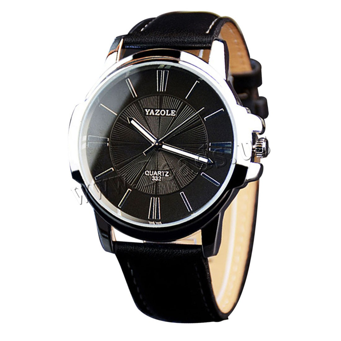 Buy Yazole® Unisex Jewelry Watch Cowhide Glass & Zinc Alloy platinum color plated adjustable & enamel nickel lead & cadmium free Approx 9.5 Inch Sold PC