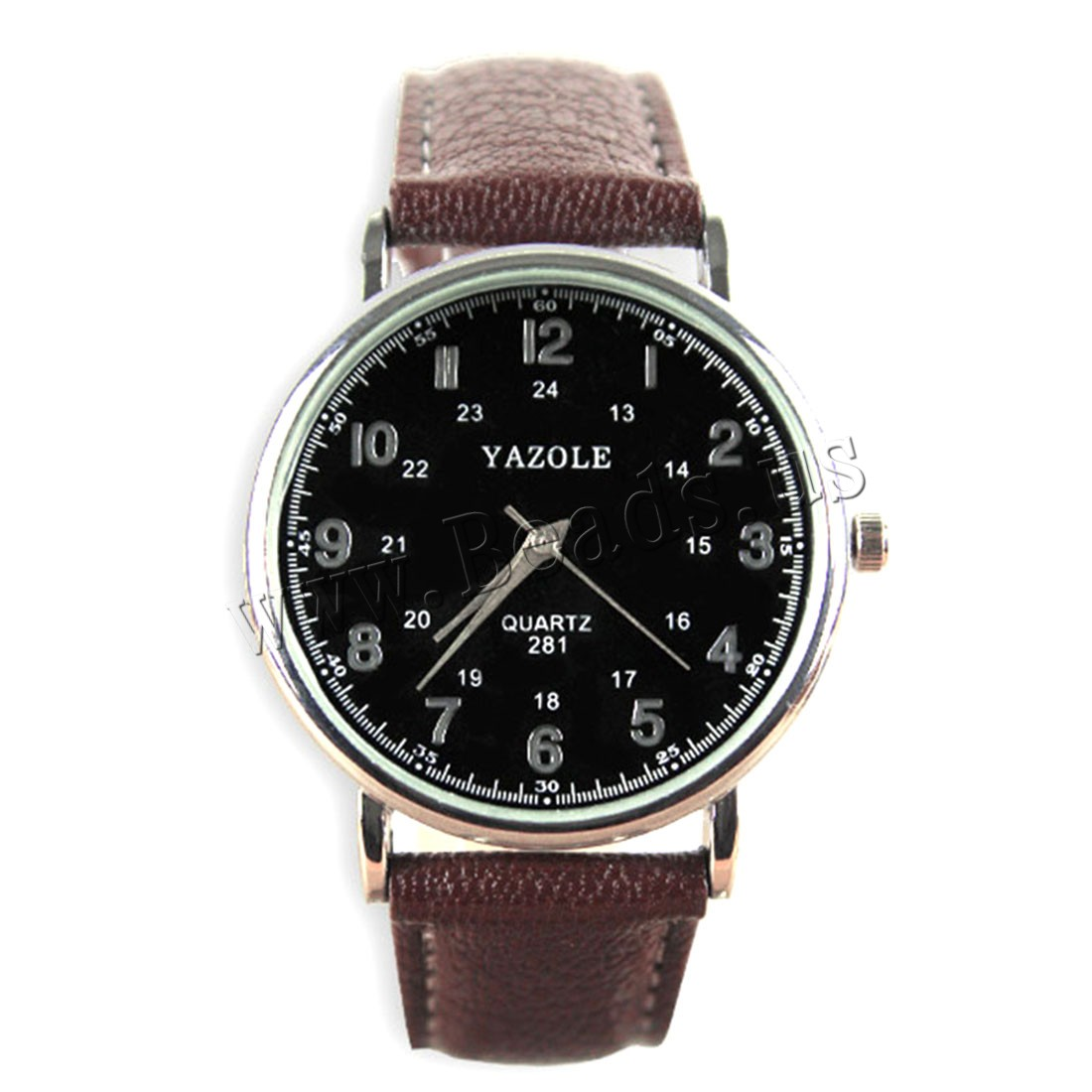 Buy Yazole® Unisex Jewelry Watch Cowhide Glass & Zinc Alloy plated adjustable nickel lead & cadmium free Approx 9 Inch Sold PC