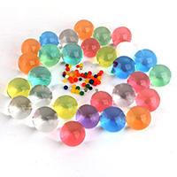 Wasserperlen, Harz, rund, Eingeweicht in Wasser zu erhöhen, gemischte Farben, 3mm, 250G/Tasche, verkauft von Tasche