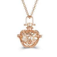 Messing Schwangere Harmonie-Kugel-Strickjacke-Halskette, plattiert, Rolo Kette & für Frau & hohl, keine, frei von Blei & Kadmium, 800mm, verkauft per ca. 31 ZollInch Strang