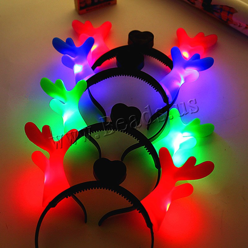 Buy Light-Up Toys Plastic Plastic Antlers children & LED colors choice 230x200mm 5PCs/Bag Sold Bag
