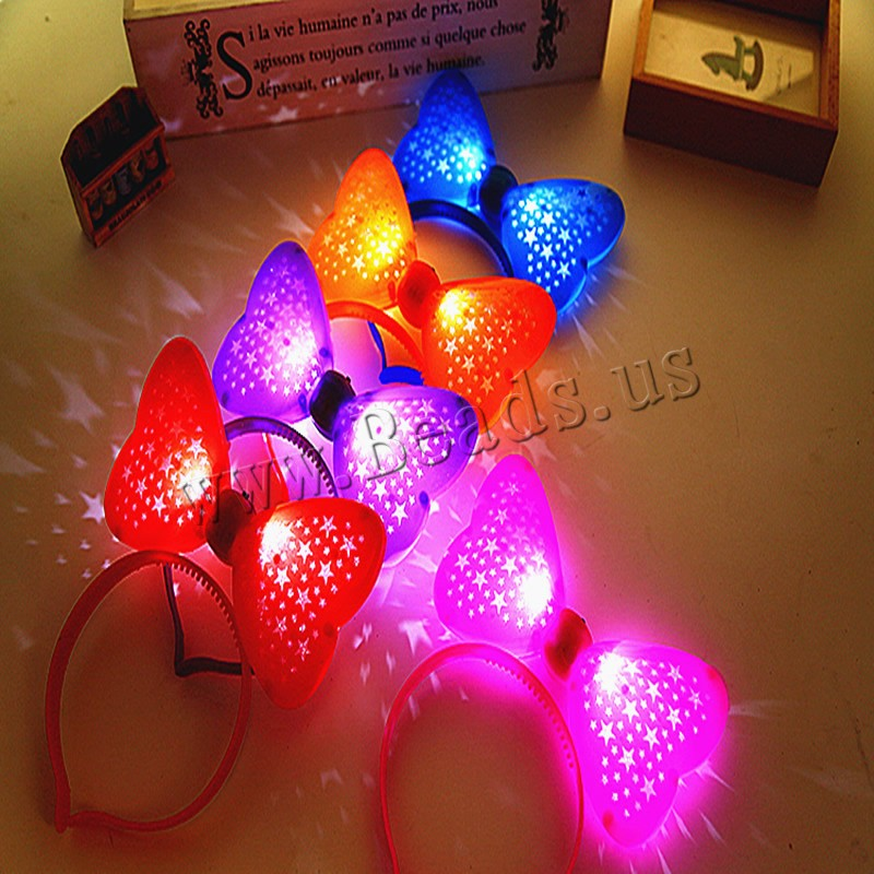 Buy Light-Up Toys Plastic Plastic Bowknot children & LED mixed colors 160x190mm 5PCs/Bag Sold Bag