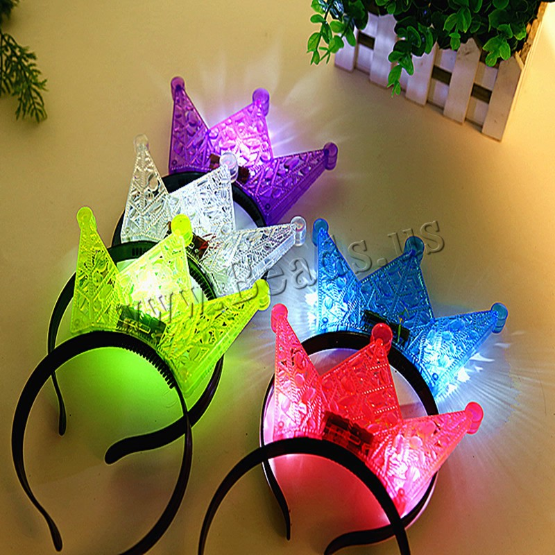 Buy Light-Up Toys Plastic Plastic Crown children & LED & hollow colors choice 200x150mm 5PCs/Bag Sold Bag