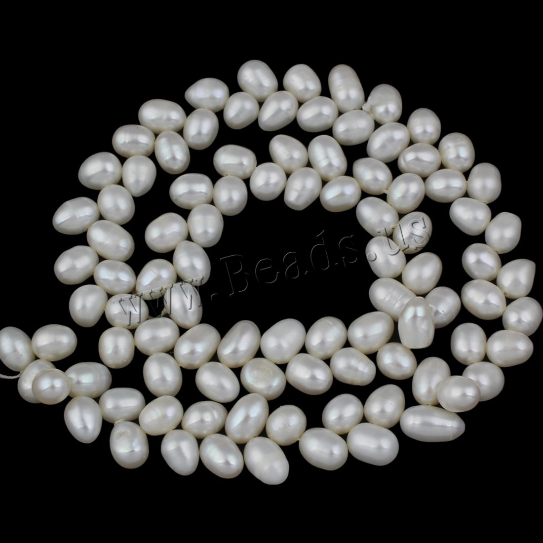 Buy Clearance Freshwater Pearl Beads Rice natural white 7-8mm Hole:Approx 0.8mm Sold Per Approx 15 Inch Strand