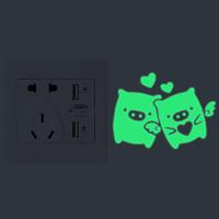 Lichtschalter Aufkleber, Papier, Schwein, Klebstoff & glänzend, 70x90mm, verkauft von PC