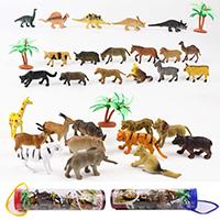 Kunststoff Simulation Tier Spielzeug, verschiedene Stile für Wahl, 50-80mm, 3BoxenFeld/Menge, verkauft von Menge