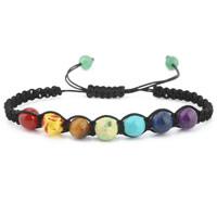 Edelstein Woven Ball Armband, mit Nylonschnur & Baumwollsamt, unisex & einstellbar & verschiedene Stile für Wahl, verkauft per 7.5-8 ZollInch Strang