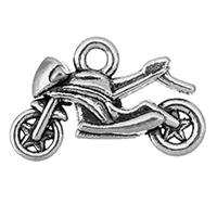 Fahrzeug Zinklegierung Anhänger, Motorrad, antik silberfarben plattiert, frei von Nickel, Blei & Kadmium, 20.50x13x6mm, Bohrung:ca. 2mm, ca. 500PCs/Tasche, verkauft von Tasche