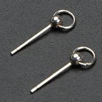 925 Sterling Silber Ohrring Stecker, silberfarben plattiert, 3x0.6x5mm, 10PaarePärchen/Tasche, verkauft von Tasche