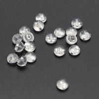 925 Sterling Silber Ohrmutter Zubehör, Silikon, 6mm, 10PaarePärchen/Tasche, verkauft von Tasche