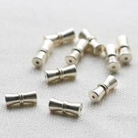 925 Sterling Silber Schraubschließe, silberfarben plattiert, 11.6x5.1mm, Bohrung:ca. 1mm, 5PCs/Tasche, verkauft von Tasche