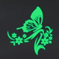 Dekorative Sticker Mode, PVC Kunststoff, Schmetterling, Klebstoff & glänzend, 530x570mm, verkauft von PC