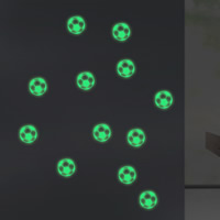 Dekorative Sticker Mode, PVC Kunststoff, Fussball, Klebstoff & glänzend, 700x500mm, verkauft von PC