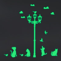 Dekorative Sticker Mode, PVC Kunststoff, Katze, Klebstoff & glänzend, 580x570mm, verkauft von PC
