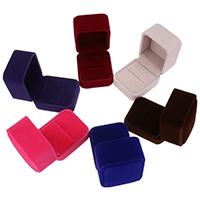 Baumwollsamt Ringkasten, keine, 51x58x45mm, verkauft von PC