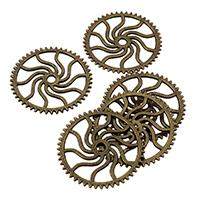 Zinklgierung Schmuck Anlaufscheiben, Zinklegierung, antike Bronzefarbe plattiert, frei von Nickel, Blei & Kadmium, 24x2mm, Bohrung:ca. 2mm, 500PCs/Tasche, verkauft von Tasche