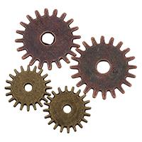 Zinklgierung Schmuck Anlaufscheiben, Zinklegierung, plattiert, verschiedene Größen vorhanden, keine, frei von Nickel, Blei & Kadmium, 500PCs/Tasche, verkauft von Tasche