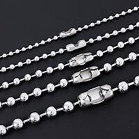 Halskette, Edelstahl, verschiedene Größen vorhanden & Kugelkette, originale Farbe, verkauft von Strang